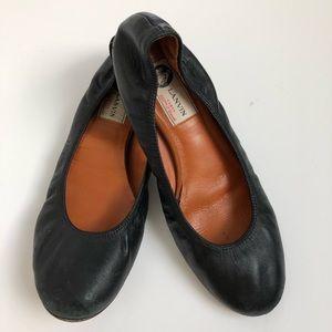 Lanvin black ballet flats 38.5 used condition